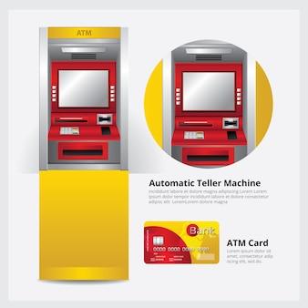 Guichet automatique bancaire avec carte bancaire
