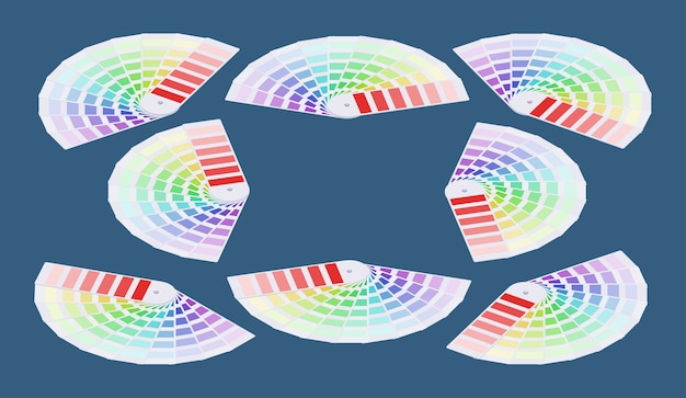 Guide de couleur isométrique