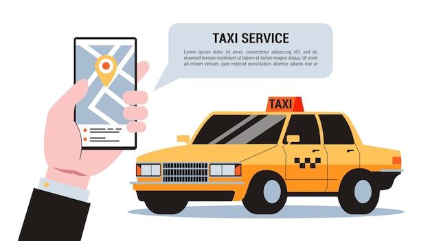 Guide de réservation de taxi en ligne étape par étape.
