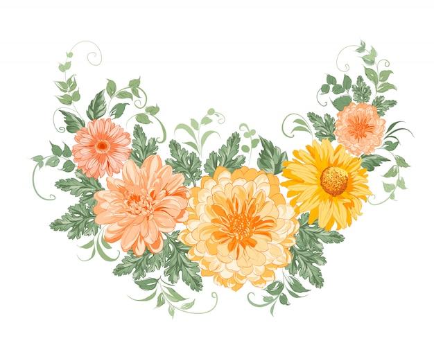 Guirlande de chrysanthèmes.