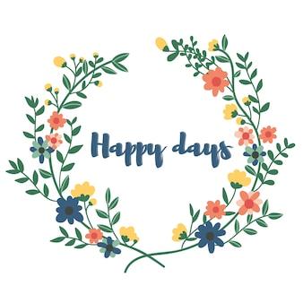 Guirlande avec citation jours heureux