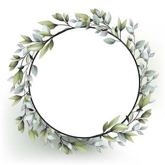 Guirlande de décoration de mariage avec plante nature