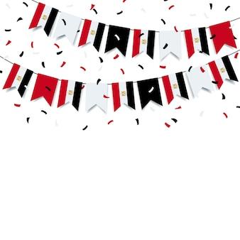 Guirlande avec le drapeau égyptien