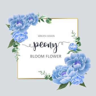 Guirlande d'élégance de fleurs botaniques