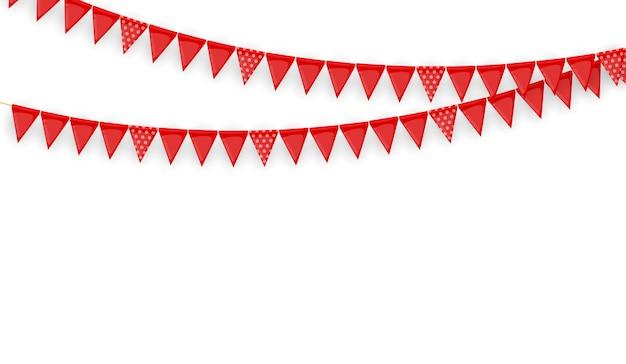 Guirlande festive de drapeaux