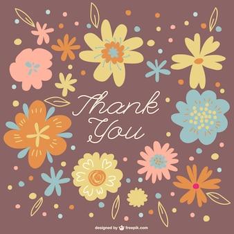 Guirlande florale vous remercient de carder