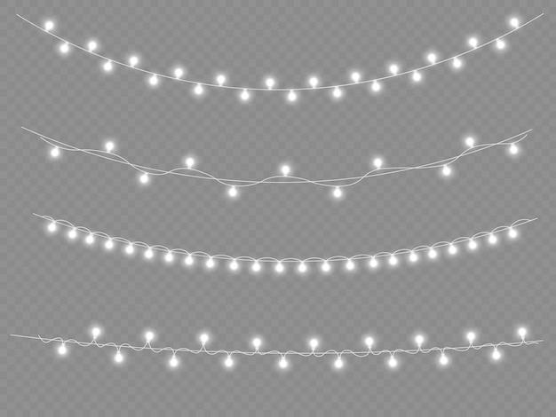 Guirlande lumineuse blanche led néons décorations de noël