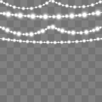 Guirlande lumineuse de noël. lampe néon à led.