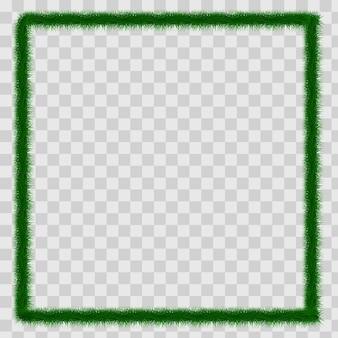 Guirlande de noël transparente détaillée de branches de sapin pour carte de voeux