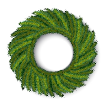 Guirlande de noël de vecteur vert, couleurs globales