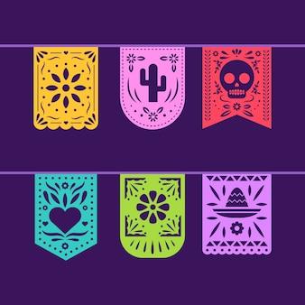 Guirlandes de collection de banderoles mexicaines
