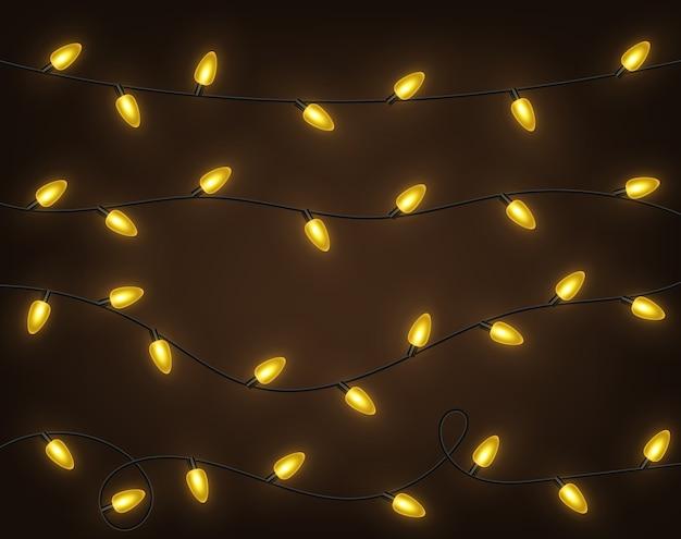 Guirlandes jaunes, décorations de fête