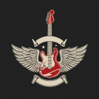 Guitar rock music wings