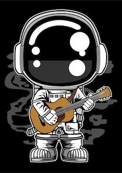 Guitare acoustique astronaute
