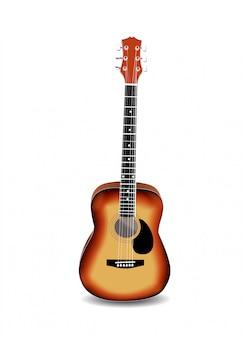Guitare acoustique isolée