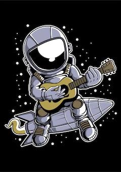 Guitare astronaute