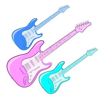 Guitare électrique. instrument de musique.