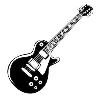 Guitare isolée sur blanc.