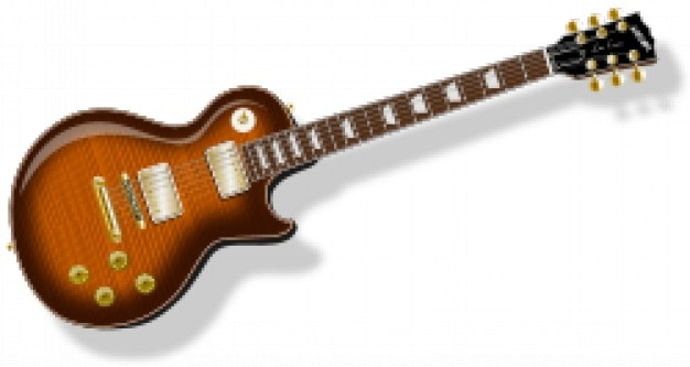Guitare lp avec flametopfinish