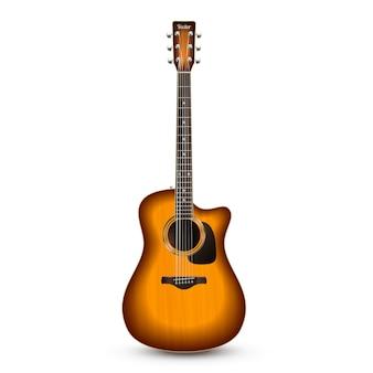 Guitare réaliste isolé