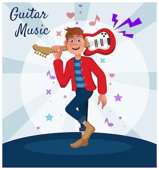 Guitariste d'idole