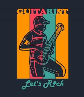 Guitariste pour t-shirt