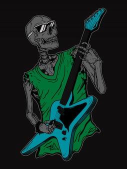 Guitariste squelette