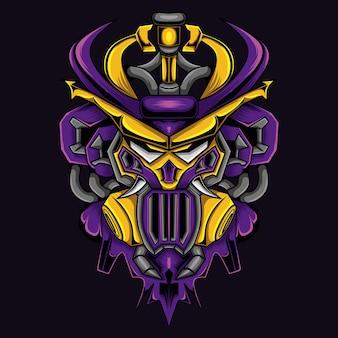 Gundam avec illustration de tête de samouraï