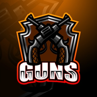 Guns esports game logo illustration