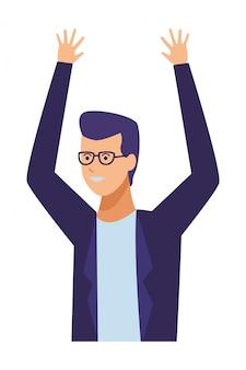 Guy tenue décontractée lunettes