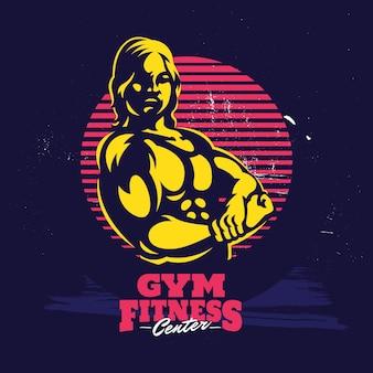 Gym fitness création de logo de modèle professionnel moderne