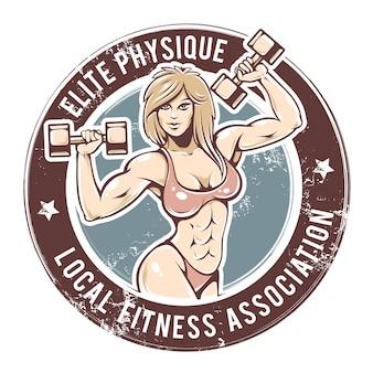 Gym lady vector