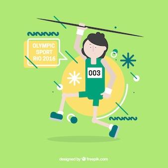 Gymnaste avec un javelot