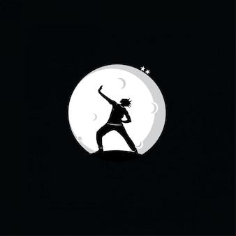 Gymnastique silhouette de jeunes gymnastes
