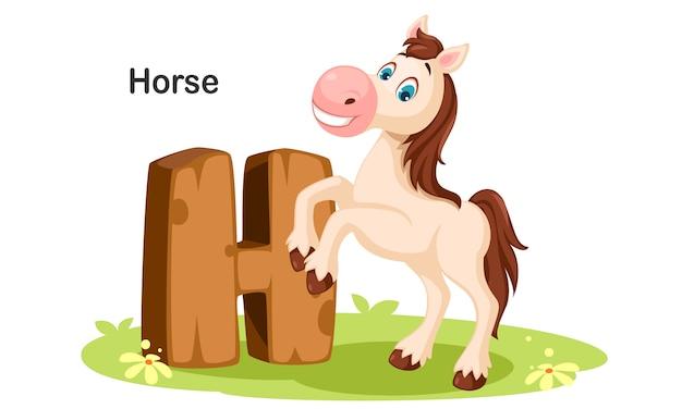 H pour cheval