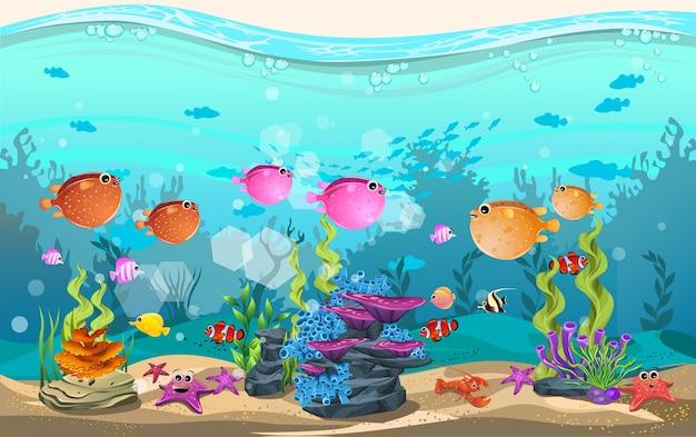 Habitats marins et la beauté des récifs coralliens