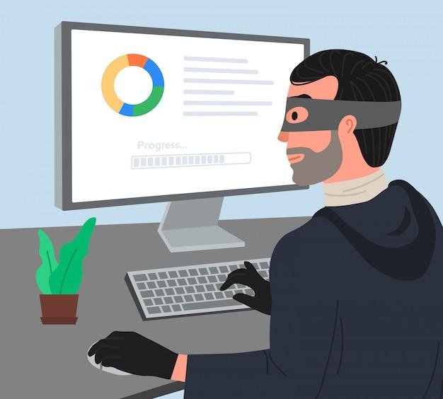 Hacker attaque illustartion