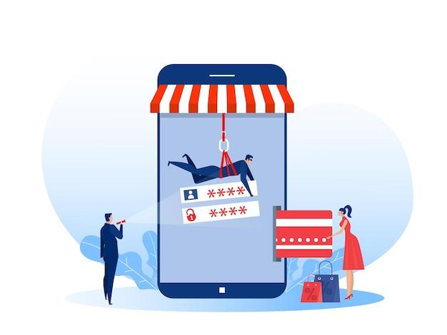 Hacker voler de l'argent de la carte de crédit sur la boutique mobile