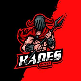 Hades mascotte logo esport gaming