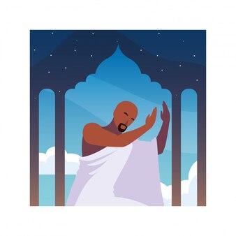 Hajj pèlerin homme, jour de dhul hijjah