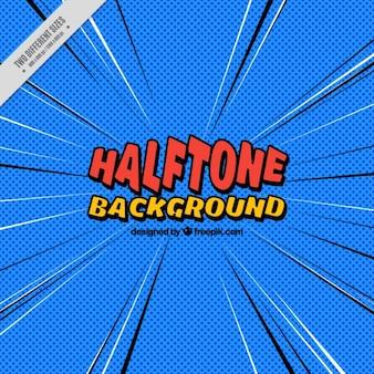 Halftone fond bleu bande dessinée