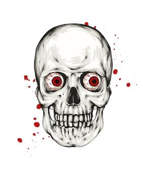 Halloween et automne effrayant de crâne
