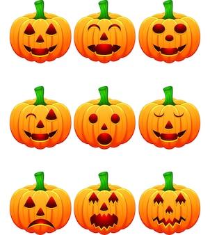 Halloween avec des citrouilles