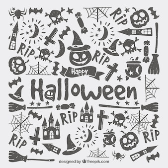 Halloween backgorund avec style moderne