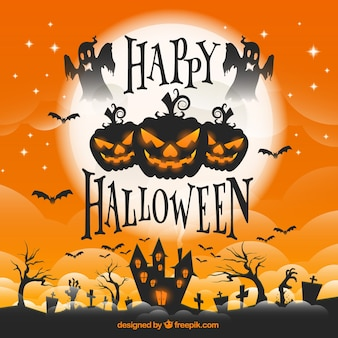 Halloween carte de voeux