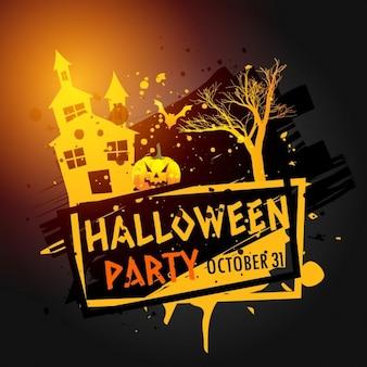 Halloween célébration de fête grunge