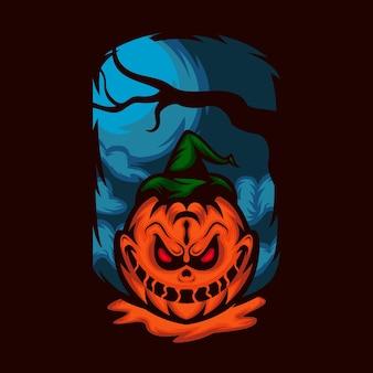 Halloween citrouille monstre