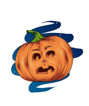 Halloween citrouille peur horreur et vacances d'automne