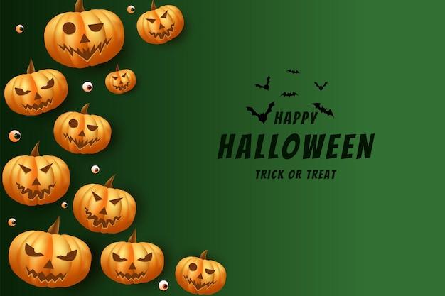 Halloween avec des citrouilles fantasmagoriques ornent à côté de l'écriture