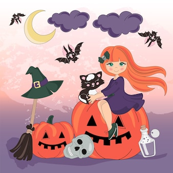 Halloween couleur vector set set pumpkin vacances